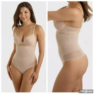 Miracle Brands High Waist Thong Nude Size XL NEW